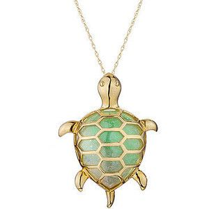 Reeds yellow gold jade turtle necklace accessorize in style reeds yellow gold jade turtle necklace aloadofball Image collections
