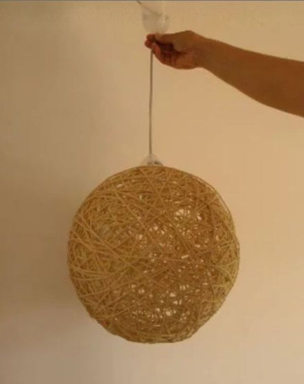 Lámpara de techo hecha con cuerda Cosas que comprar Pinterest