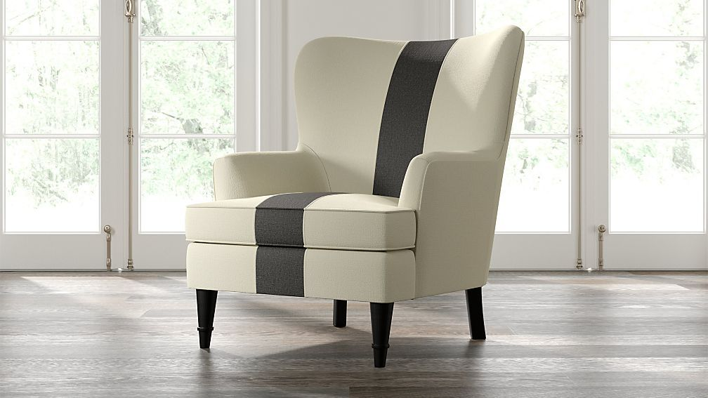 Amherst striped chair reviews crate and barrel