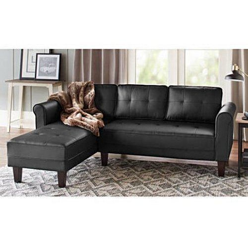 black leather sectional sofa contemporary living room