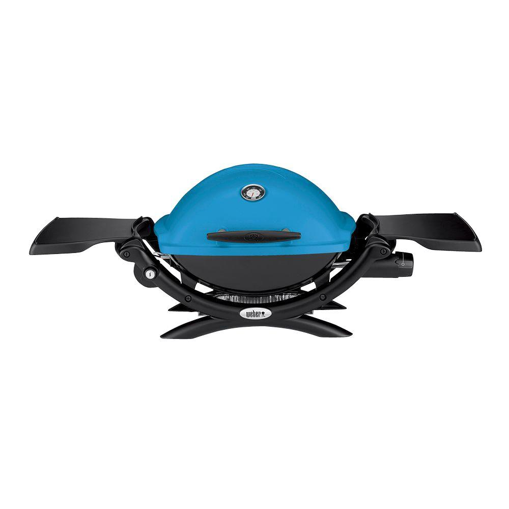 Weber Q 1200 1 Burner Portable Tabletop Propane Gas Grill In Blue