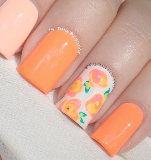 Nail Ideas For April: April Flowers - Rose Tutorial