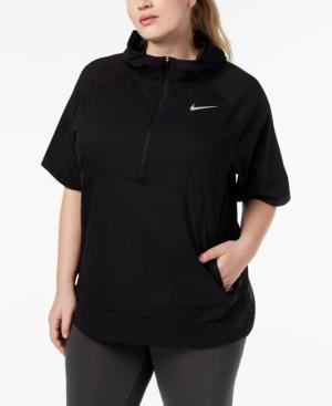 f9e3c23a51d Nike Plus Size Flex Dri-fit Short-Sleeve Running Jacket - Black 1X ...