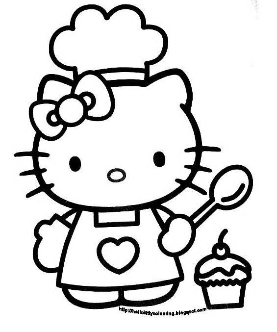 Hello Kitty Coloring Book Sheet Black And White picture ...