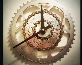 Desk Clock Bike Desk Clock Industrial Decor by DreamGreatDreams