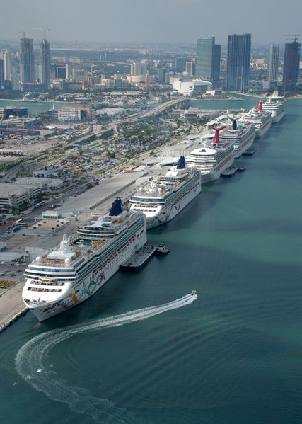Miami Cruise Port, the world's busiest, is really a small island
