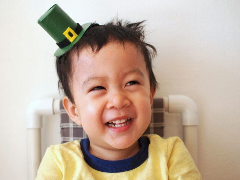 toilet Paper Roll Leprechaun Hat Headband