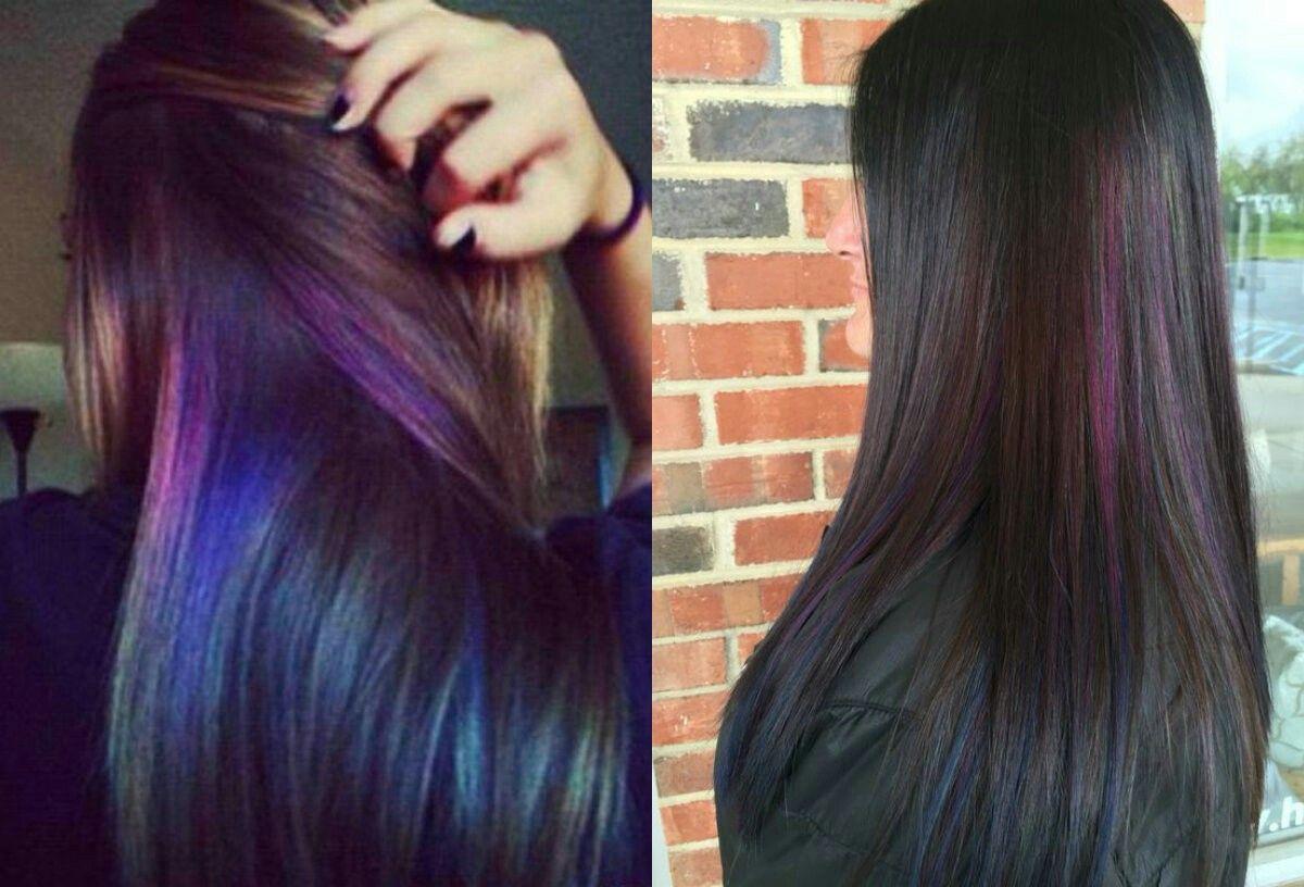 Purple Hair Dye Styles: Oil Slick Hair, Slick Hairstyles