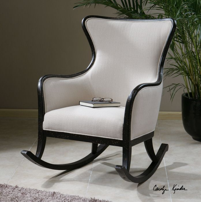 Kinder Egg Chair.Uttermost Sandy Rocking Chair Shimmering Sandy White Woven