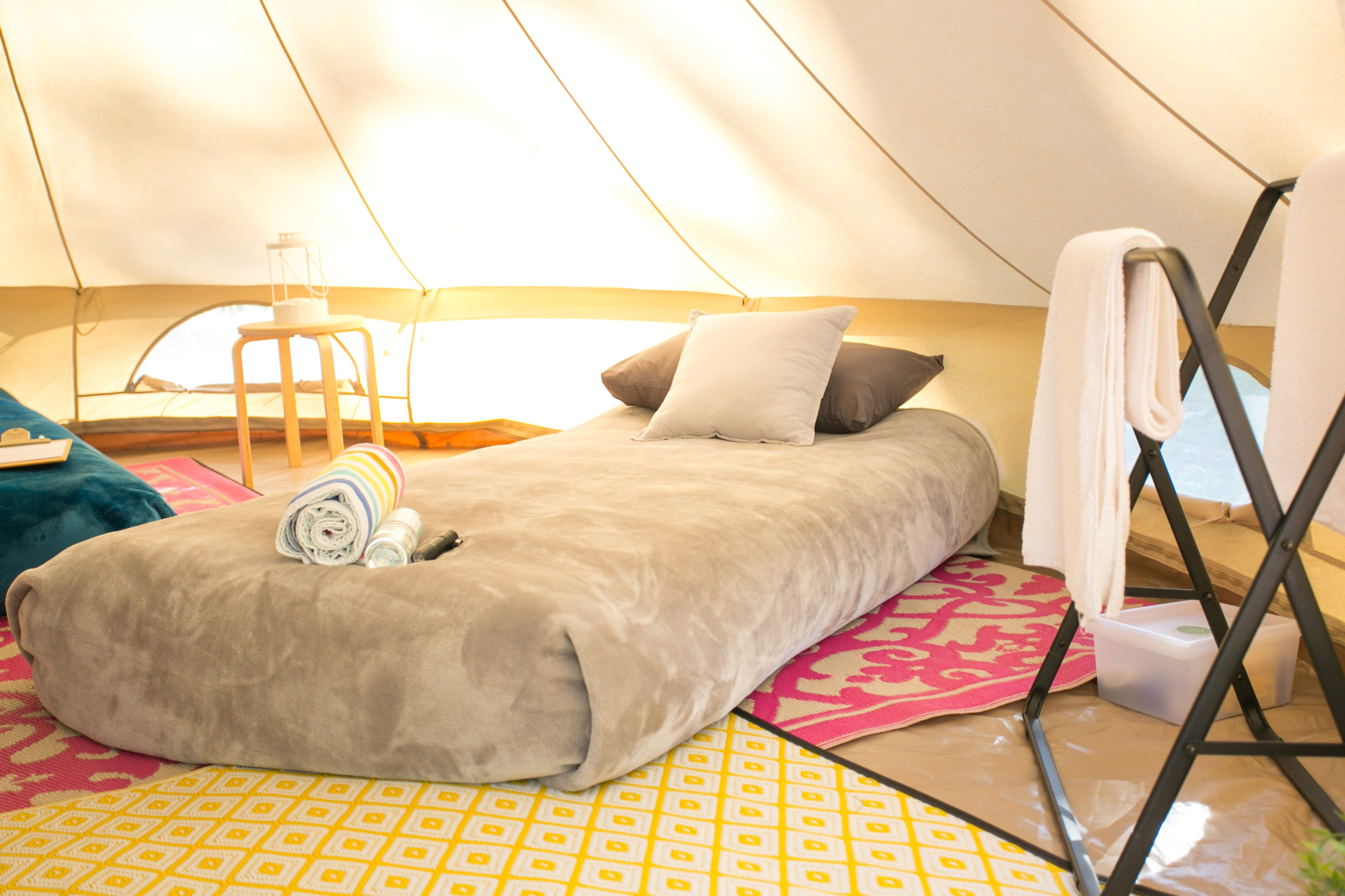 Wedding night bedroom decoration ideas  Donut just pitch a tent  Glamping will make your family holiday