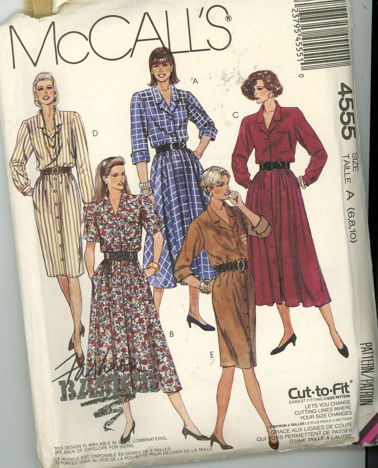 ddec500026d McCall s 4555 Misses Dresses Size 6