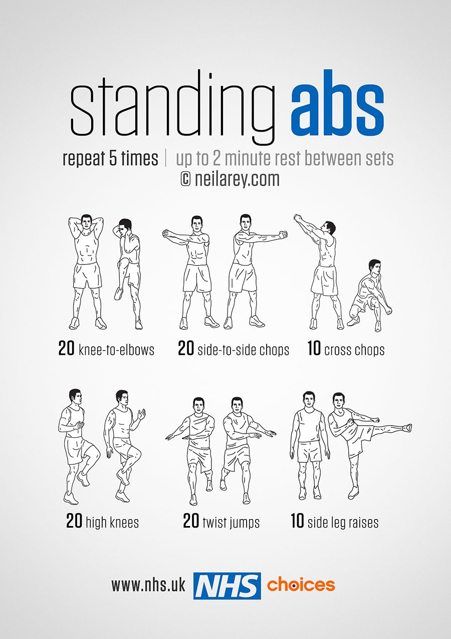 standing abs workout - Buscar con Google