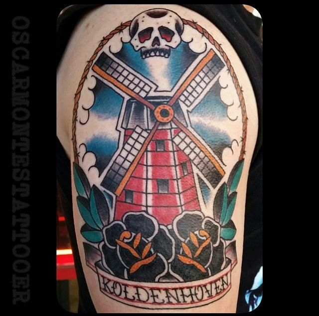 traditional tattoo windmill tattoo traditional windmill tattoo pinterest windmill tattoo. Black Bedroom Furniture Sets. Home Design Ideas
