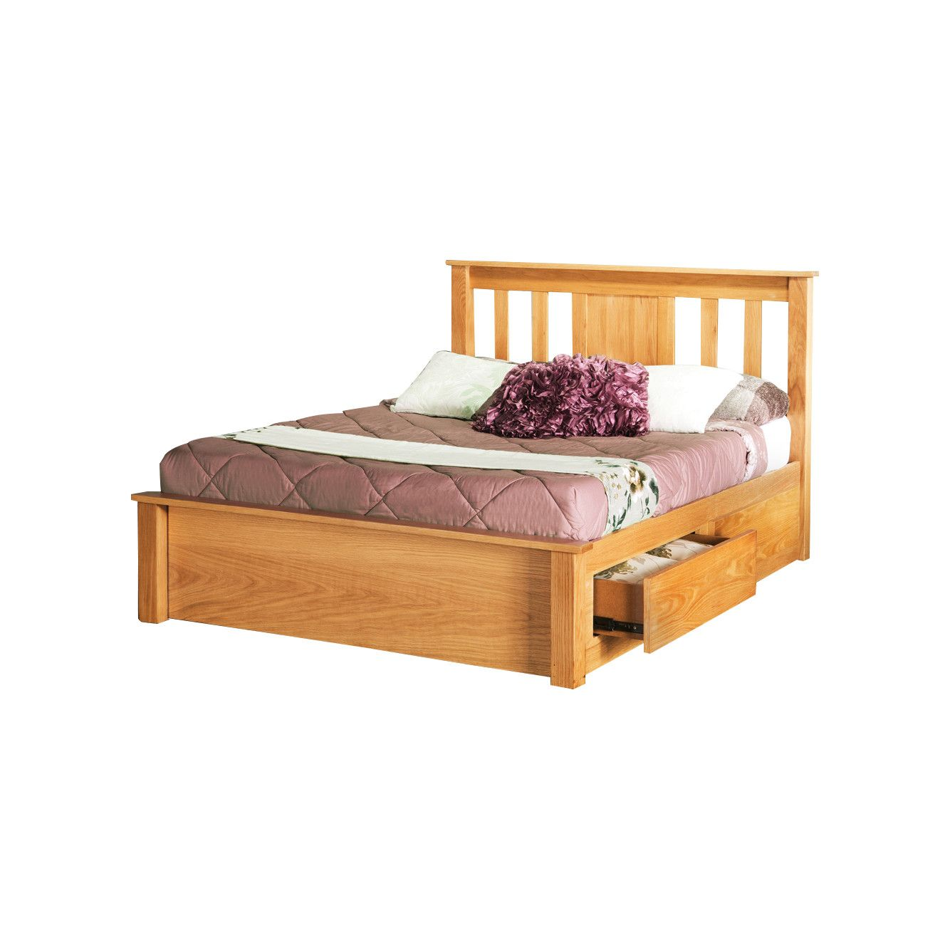 Love the Stoarge -- Opus Double Size Wooden Bed Frame with 4 Drawers ...