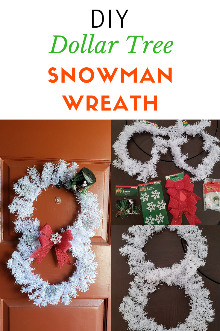 Dollar Tree Holiday DIY Snowman wreath, Christmas decor