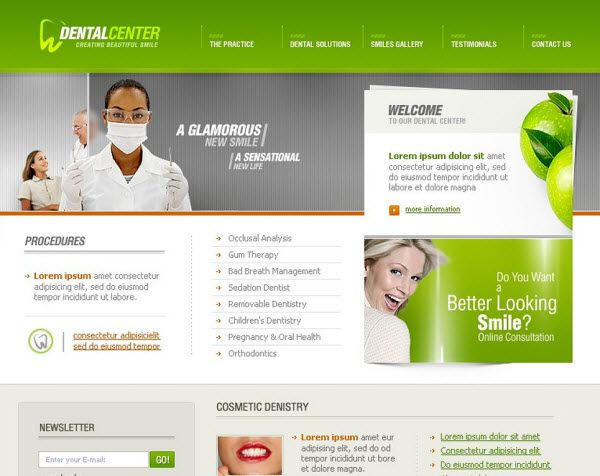 dental clinic website templates - website templates - dentist website templates #websitetemplates