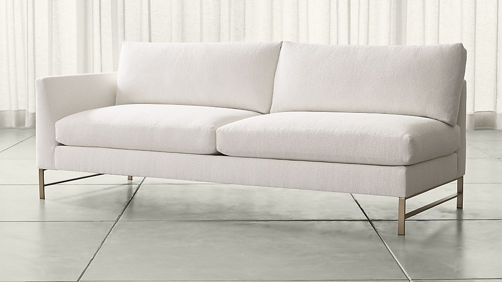 Genesis Left Arm Sofa With Brushed Br Base Crate And Barrel