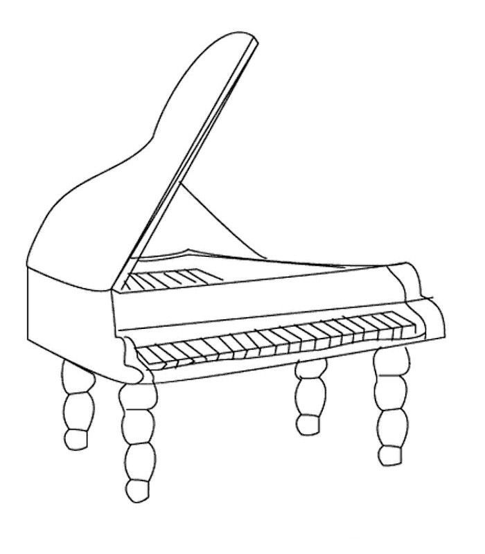 P Is For Piano Coloring Page Coloring Pages Upright Piano
