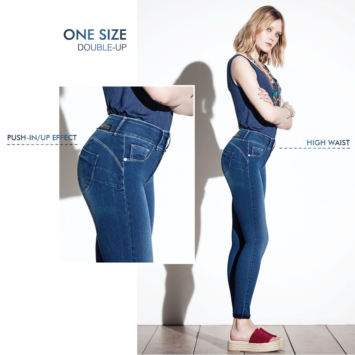 18d37bb6db4 One Size Double Up  tiffosi  tiffosidenim  jeans  onesize  doubleup   highwaist  pushin  pushup  onesizefitsall