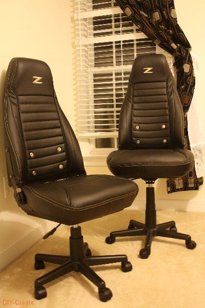 Racing Seat Office Chair Diy Wicker Resin Chairs How To Turn Junker Car Seats Into Beautiful Kid S Idea For Andrew Old Camaro