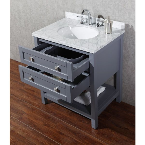 Stufurhome Marla 30 inch Single Sink Bathroom Vanity with Mirror in
