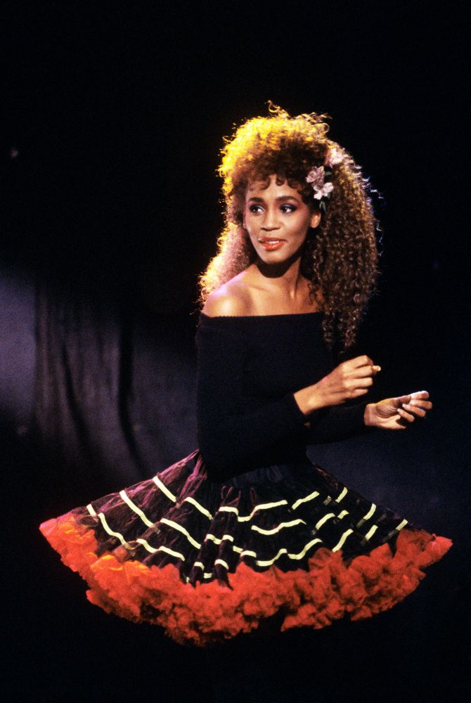 Whitney Houston Big Poofy Skirt Black Tights Off The