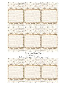 burlap lace free printable tags art journal printables pinterest printable tags burlap. Black Bedroom Furniture Sets. Home Design Ideas