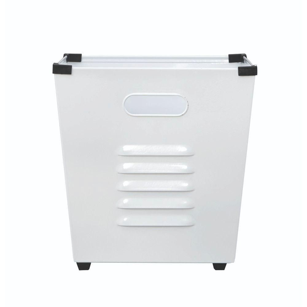 Home Decorators Collection Lachlan White Metal Storage Bin Set Of 3 9199510410 The Home Depot Metal Storage Bins Decorative Storage Bins Storage Bin