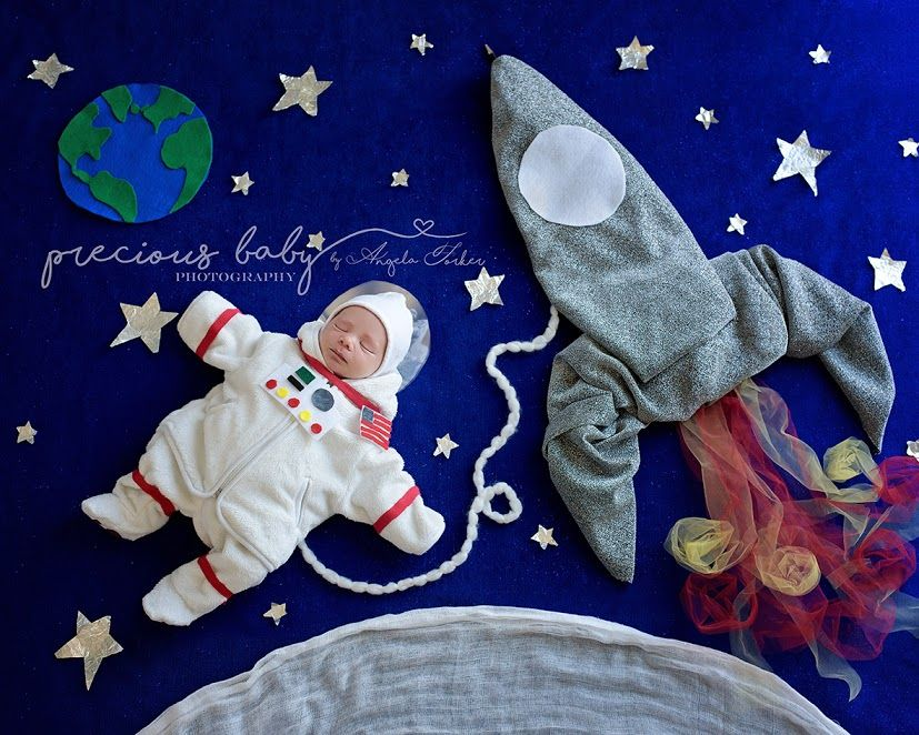 Amazing Unique Newborn Astronaut Rocket Precious Baby Photography By Angela Forker Baby Imaginart F Cute Baby Photos Baby Photoshoot Boy Monthly Baby Pictures