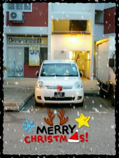Woo.. can see the deco on the car? So cute.