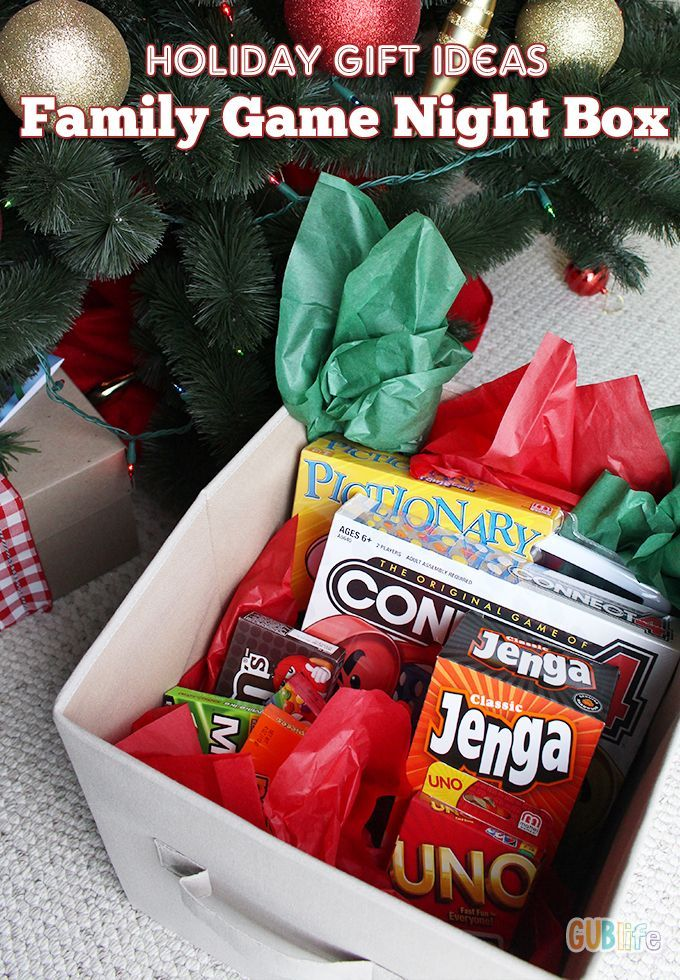 Holiday Gift Ideas Family Game Night in a Box Family