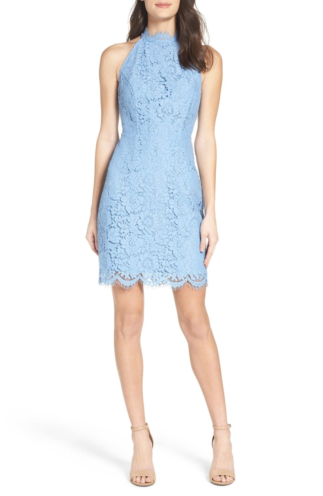 cadbf7869ad2 Light blue lace cocktail dress | 'Cara' High Neck Lace Dress | affiliate