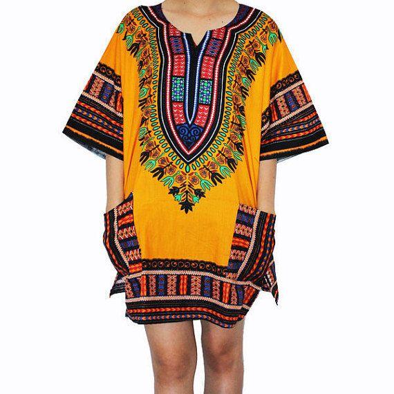 Dashiki Shirt African dress Tribal Festival Kaftan by Enoughning ...