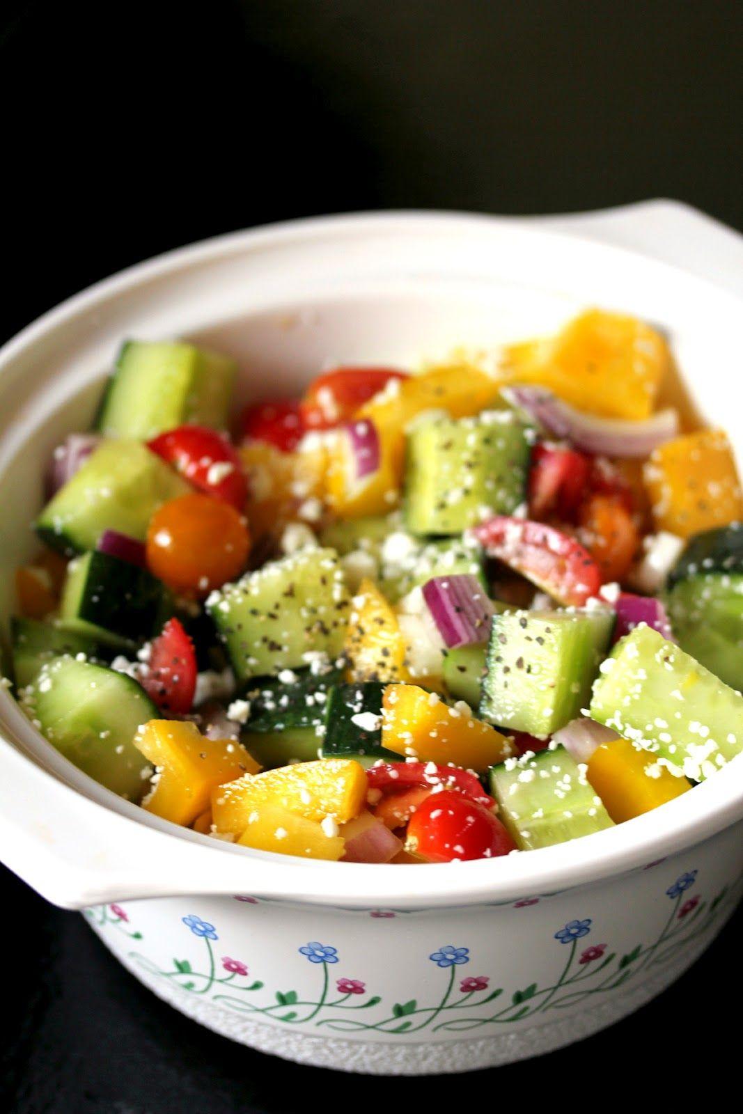 Fresh mixed veggie salad