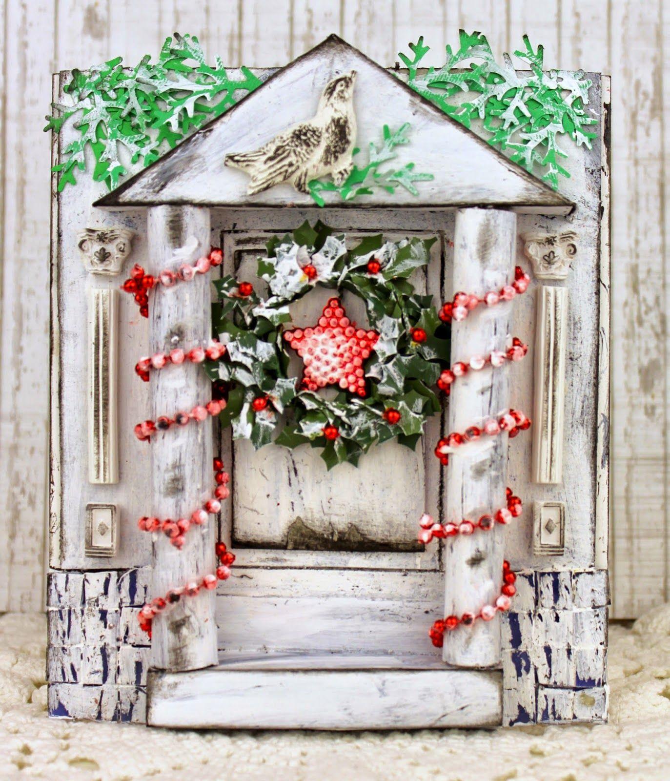 Новогодние открытки окна