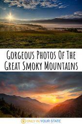 The beautiful Great Smoky Mountains are paradise for photographers and nature lo...  Die wunderschönen Great Smoky Mountains sind ein Paradies für Fotografen und Naturliebhaber. Diese Fotos der Berge, die entlang der Grenze zwischen Tennessee und North Carolina verlaufen, sind absolut atemberaubend. | Kunst | Sonnenuntergänge | Im Freien | Landschaft | Fotografie | Inspiration | ... #die #ein #Fotografen #für #Great #mountains #NATURLIEBHABER #Paradies #sind #Smoky #und #wunderschönen