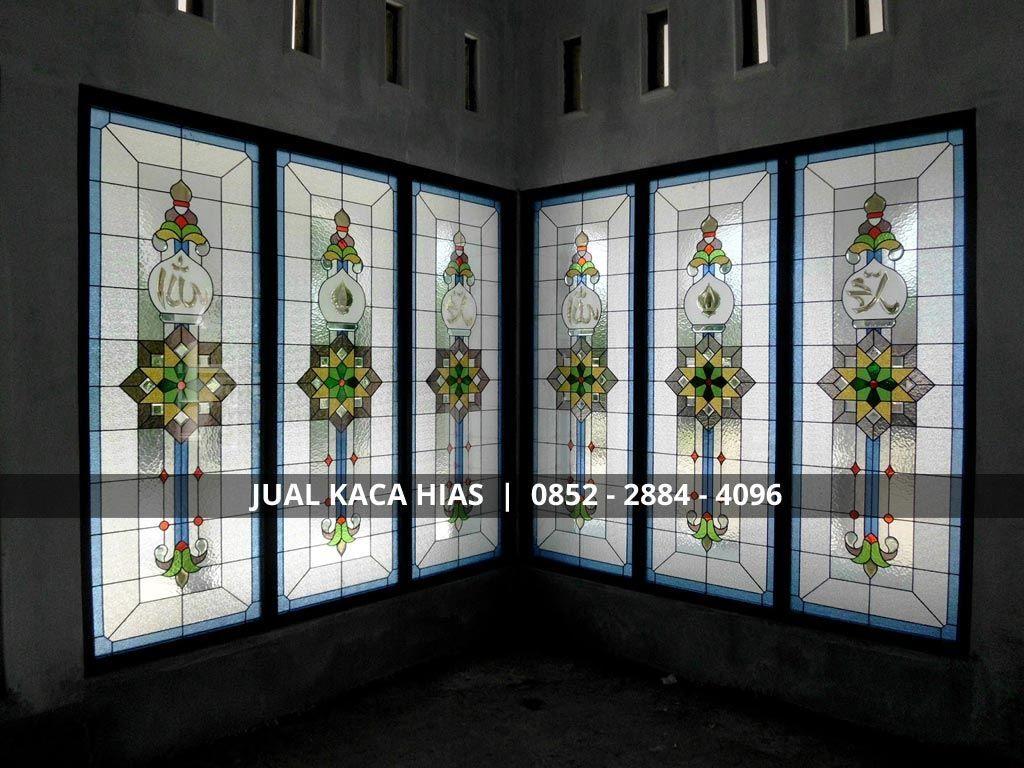 Jendela Kaca Hias Masjid Decor Home Decor Room Divider Kaca lukis untuk jendela