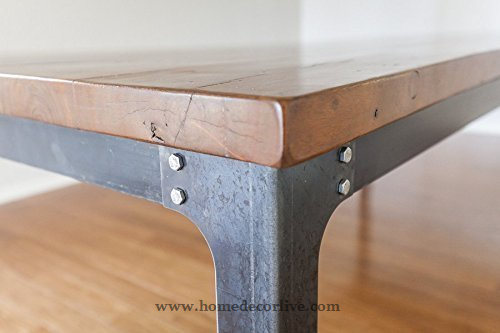 HomeDecorLive.com The Kindred Dining Table: Industrial Legs