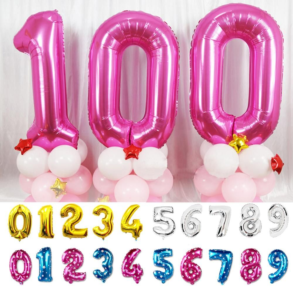 """40/"""" LIGHT ROSE GOLD Number Foil Helium Balloon for Birthday Party Decoration"""