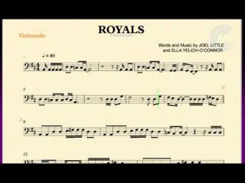 Royals Lorde Cello Sheet Music Chords And Vocals Cello Sheet