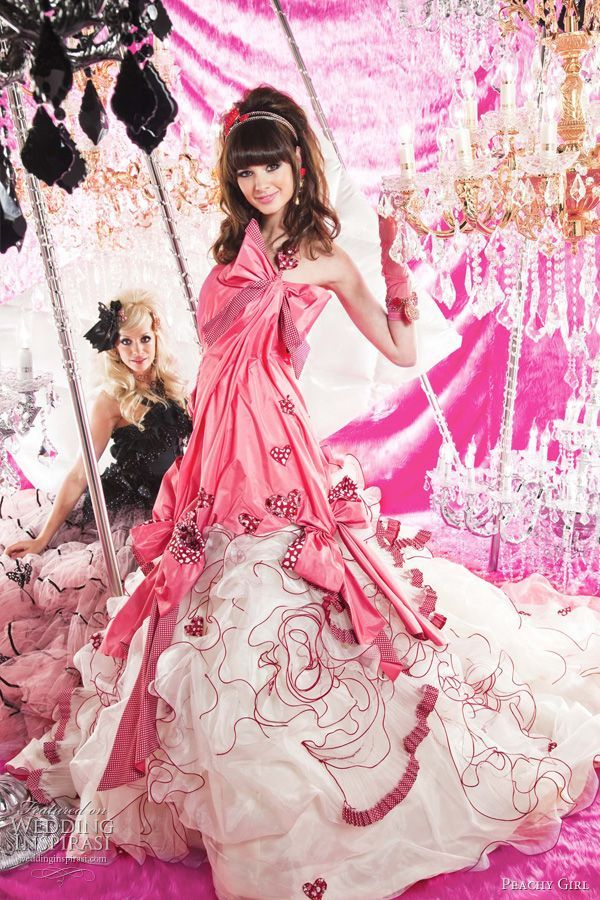 Cute pink wedding dress