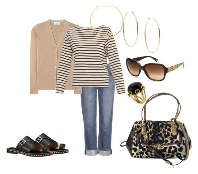 """""""Untitled #157"""" by aimemcc13 on Polyvore featuring Paige Denim, Prada, M.i.h Jeans, Michael Kors, Jennifer Zeuner, Coach, Valentin Magro, leopard, casualoutfit and coach"""