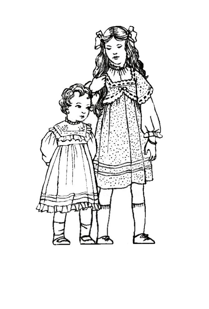 fashion coloring pages | Children in C20th Costume History 1900-1910 ...