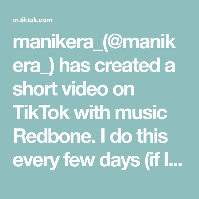 Manikera Manikera Has Created A Short Video On Tiktok With Music Redbone I Do This Every Few Days If I Remember A Turmeric Mask Aztec Clay Mask Music