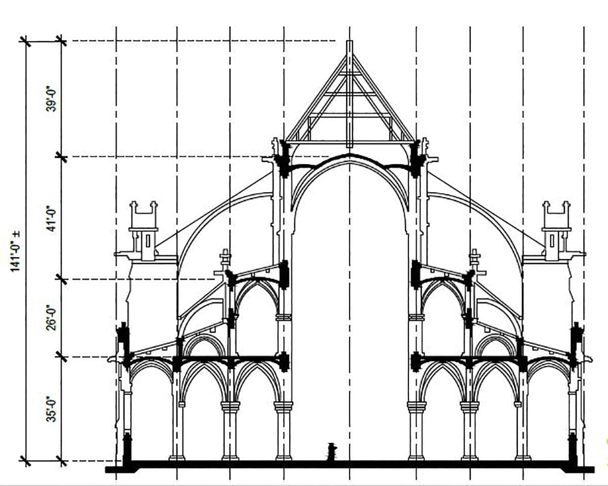 Notre Dame Architectural Plan