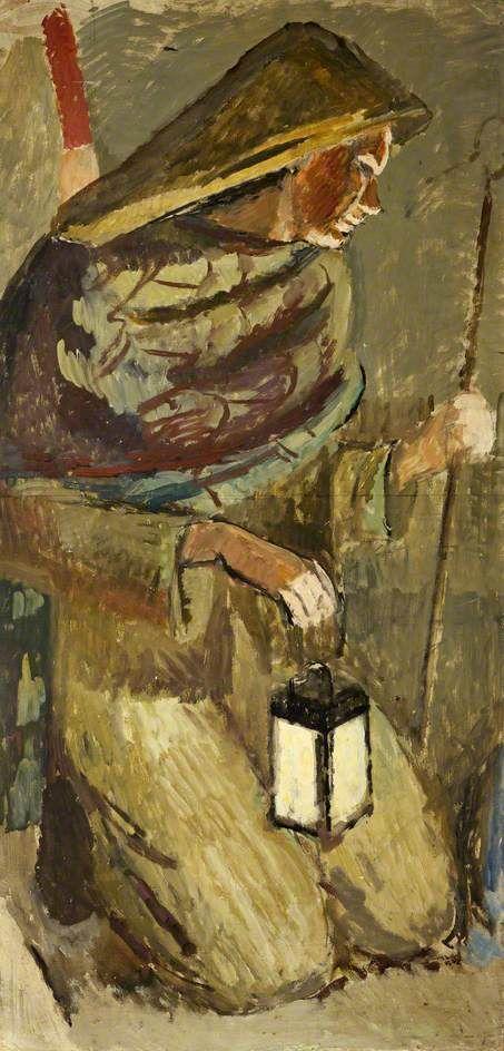 Study for Berwick Church: The Shepherd  by Vanessa Bell  1941