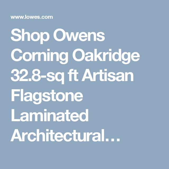 Best Shop Owens Corning Oakridge 32 8 Sq Ft Artisan Flagstone 400 x 300