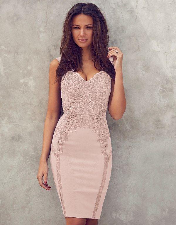 Lipsy Love Michelle Keegan Applique Detail Bodycon Dress | ropa ...
