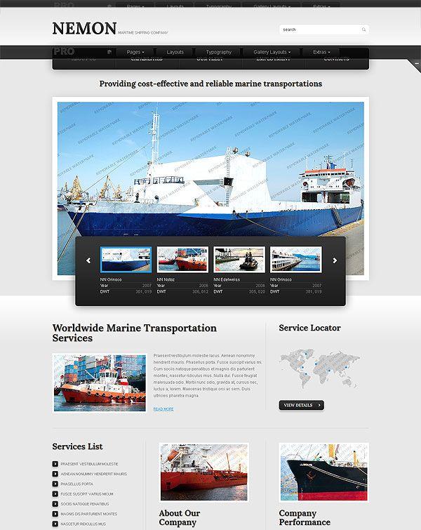 Flooring Company Website Template WIX UI Pinterest – Shipping Templates