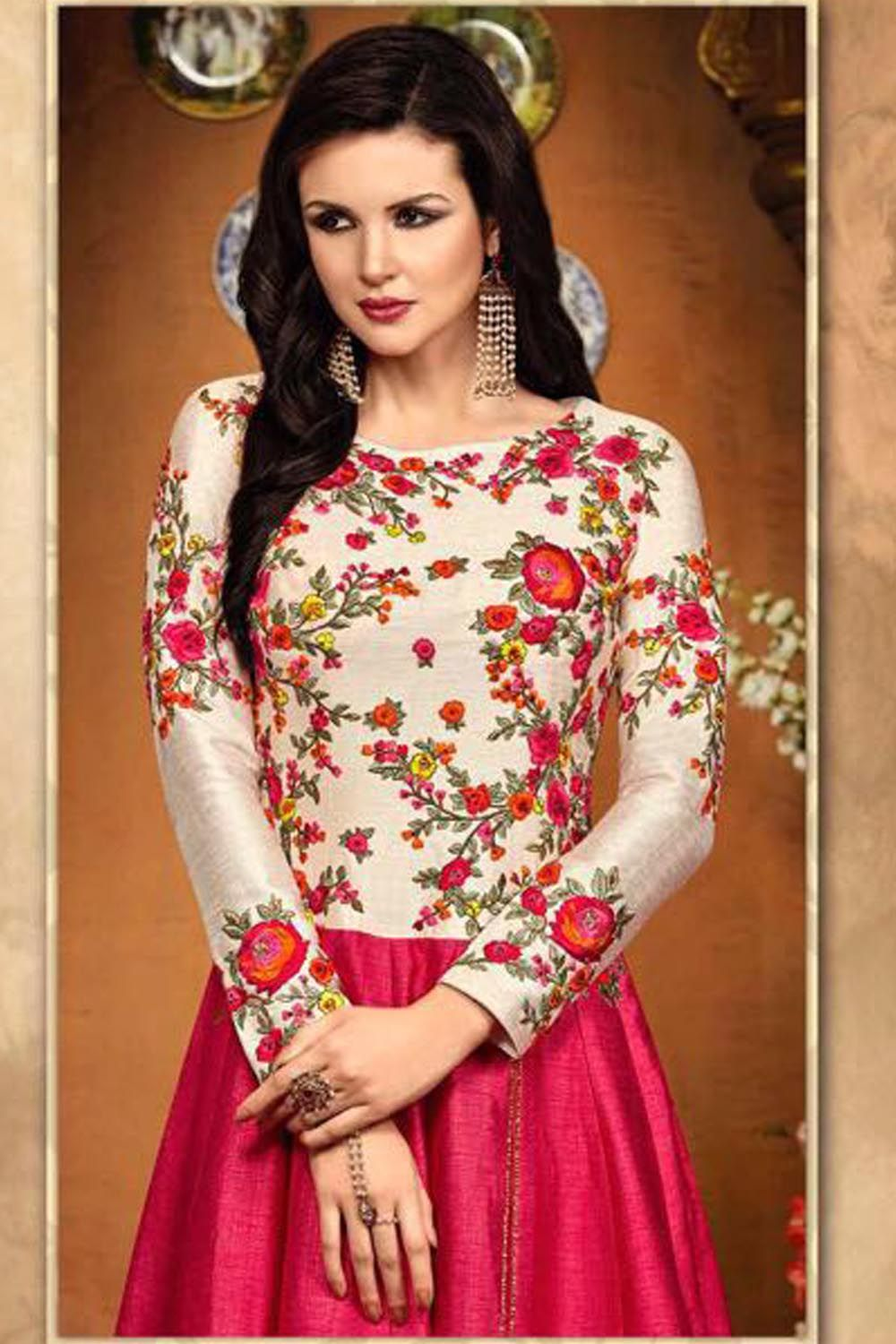 1ab8b0a1e9 Floor Length Latest Anarkali Suit RS :1499. Find this Pin and more on  Latest Ethnic Indian Dresses ...